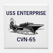 USS ENTERPRISE Tile Coaster