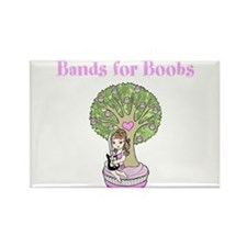 2012 Bands for Boobs Art Rectangle Magnet