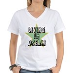 OYOOS Living My Dream design Women's V-Neck T-Shir