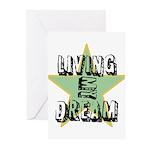 OYOOS Living My Dream design Greeting Cards (Pk of