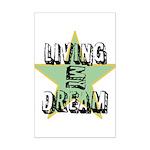 OYOOS Living My Dream design Mini Poster Print