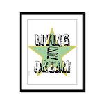 OYOOS Living My Dream design Framed Panel Print
