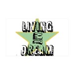 OYOOS Living My Dream design 38.5 x 24.5 Wall Peel