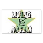 OYOOS Living My Dream design Sticker (Rectangle)