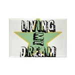 OYOOS Living My Dream design Rectangle Magnet (100