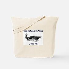 USS REAGAN Tote Bag