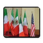 Mexican American Flag Mousepad