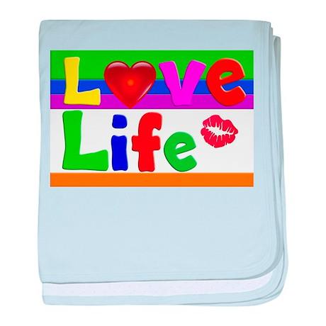 Love Life baby blanket