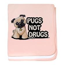 Pugs Not Drugs baby blanket