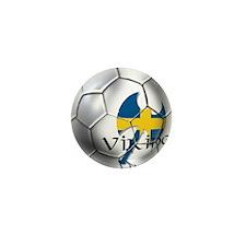 Sverige Viking Soccer Mini Button