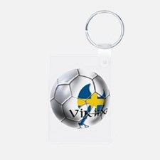 Sverige Viking Soccer Keychains