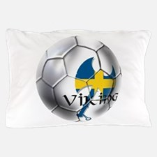 Sverige Viking Soccer Pillow Case