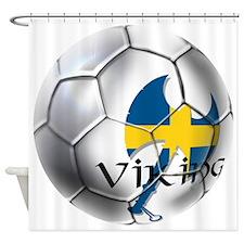 Sverige Viking Soccer Shower Curtain