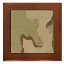 3 color desert bdu Framed Tile