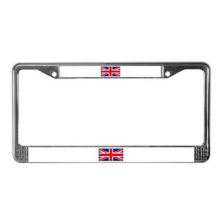 Union Jack Flag License Plate Frame