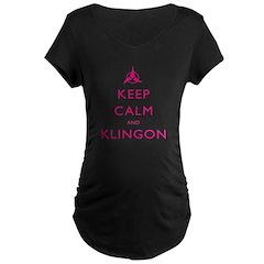 Keep Calm and Klingon Pink T-Shirt