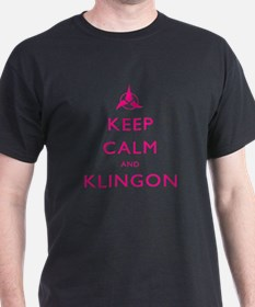 Keep Calm and Klingon Pink T-Shirt