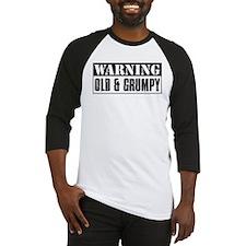 Warning Old And Grumpy Baseball Jersey