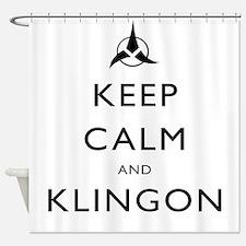 Keep Calm and Klingon Shower Curtain