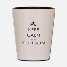 Keep Calm and Klingon Shot Glass