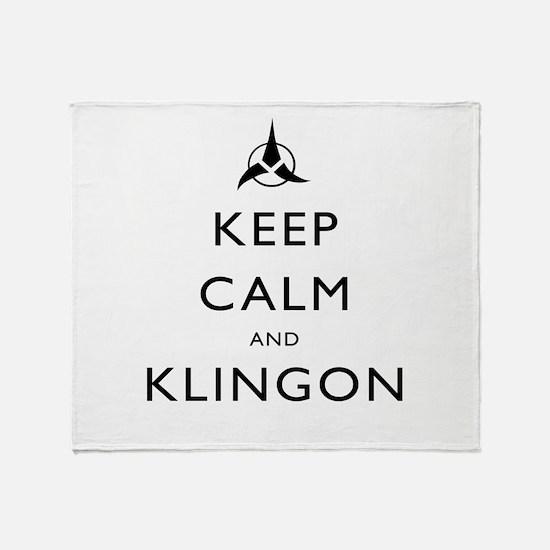 Keep Calm and Klingon Throw Blanket