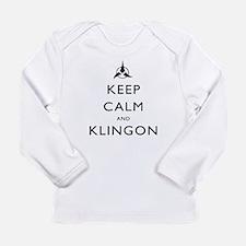 Keep Calm and Klingon Long Sleeve Infant T-Shirt