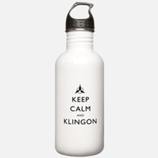 Keep Calm and Klingon Water Bottle
