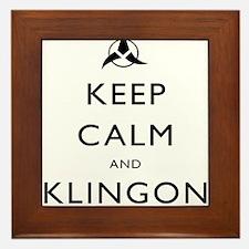 Keep Calm and Klingon Framed Tile
