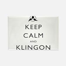 Keep Calm and Klingon Rectangle Magnet
