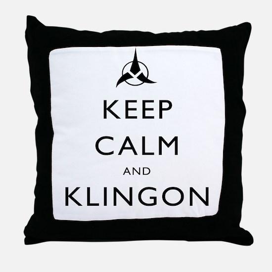 Keep Calm and Klingon Throw Pillow