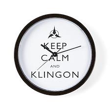 Keep Calm and Klingon Wall Clock