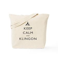 Keep Calm and Klingon Tote Bag