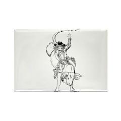 Bull rider Rectangle Magnet