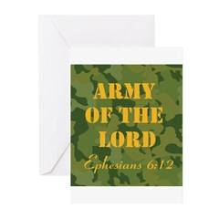 Army of the Lord (Ephesians 6 Greeting Cards (Pk o