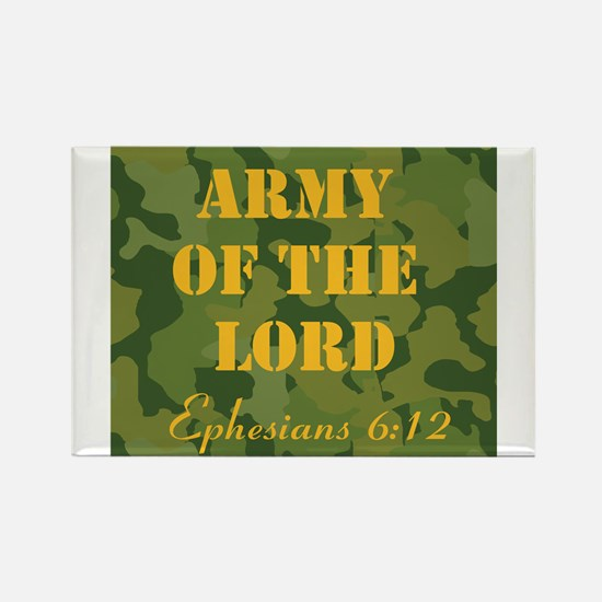 Army of the Lord (Ephesians 6 Rectangle Magnet