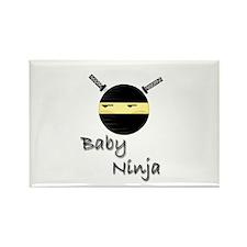 Baby Ninja Rectangle Magnet