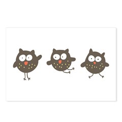 Silly Owls Postcards (Package of 8)