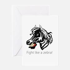 Fight Like a Zebra Greeting Card