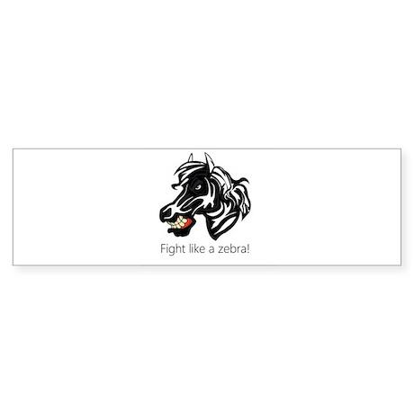 Fight Like a Zebra Sticker (Bumper)