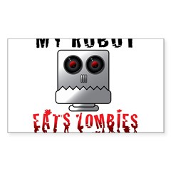 My Robot Eats Zombies Decal