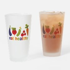 Eat Healthy Drinking Glass