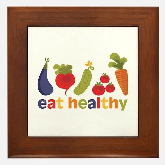 Eat Healthy Framed Tile