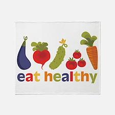 Eat Healthy Throw Blanket