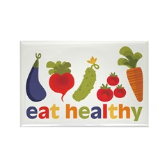 Eat Healthy Rectangle Magnet (100 pack)