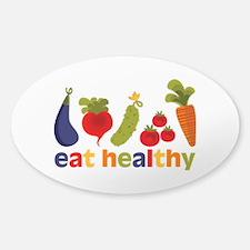 Eat Healthy Sticker (Oval)