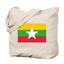 Myanmar Flag Tote Bag