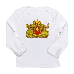 Myanmar State Seal Long Sleeve Infant T-Shirt