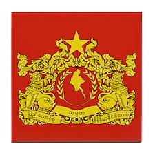 Myanmar State Seal Tile Coaster
