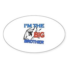 Cool Hangliding Big Brother Design Sticker (Oval)