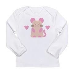 Heart Mouse Long Sleeve Infant T-Shirt